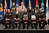 2010 VACP/VPCF Valor Award Recipients: (Front row, l. to r.) Cpl. Samuel Bray, Danville Police; SWAT Medic Jeff Yates, Portsmouth Police; Officer Joseph Torres, Officer Gregory I. Seaborne, & Officer Richard Mojica, Newport News Police. (Back row, l. to r.) Officer Scott Blystone, Portsmouth Police; Sgt. Christ Coderre, Loudoun Co. Sheriff; Detective Matthew Hackney, Leesburg Police; and Officer Frank Natal, Portsmouth Police.